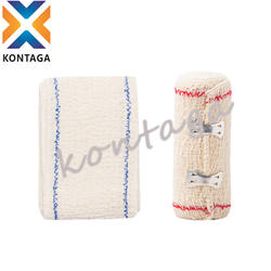 First aid surgical elastic medical conforming 100% cotton crepe bandage with clip