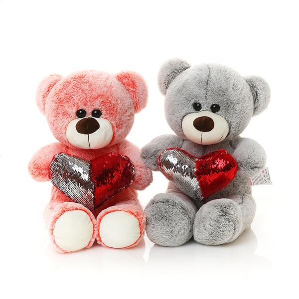 Cute sofa plush bear valentine's day teddy