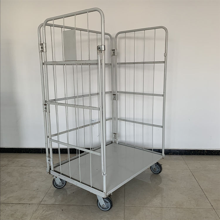 Cage trolley for logistic transport