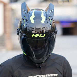Summer Run All Head Full Face Ride Personality Horn Predator Electric Motorcycle Helmet