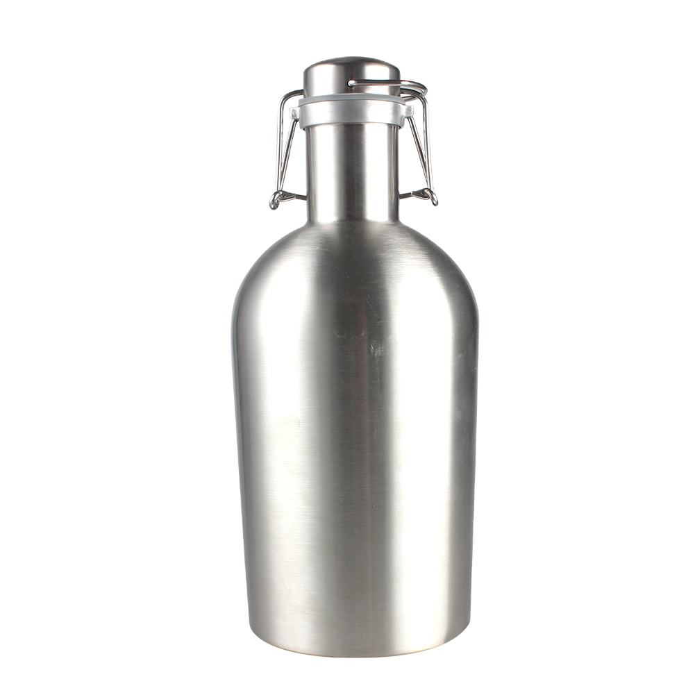 Best Price 64 oz Popular mini 2l insulated cerveza stainless steel growlers 64 oz