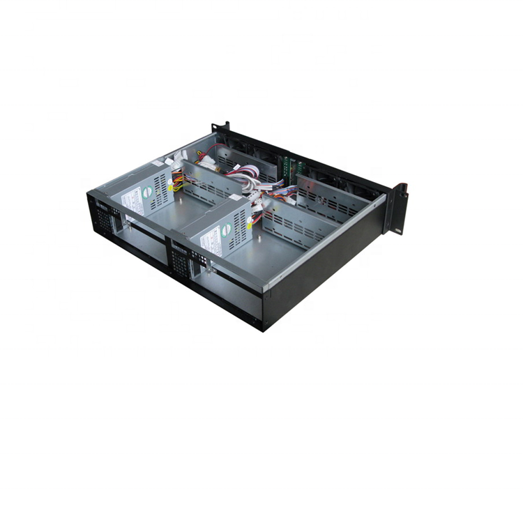 2U Mini-ITX dual systeem Compact Server case, Rackmount Chassis, industriële PC case EKI-M236
