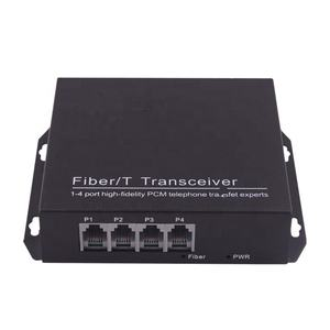 PCM 4 Channel Telephone transmitter Fiber optic media Converter Extender 20KM