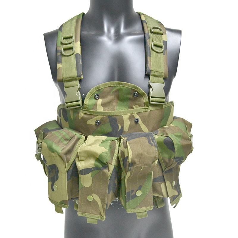 ON SALE YAKEDA coyote AK47 magazine ammo carrier military surpluscombat army tactical vest chest rig in woodland camo