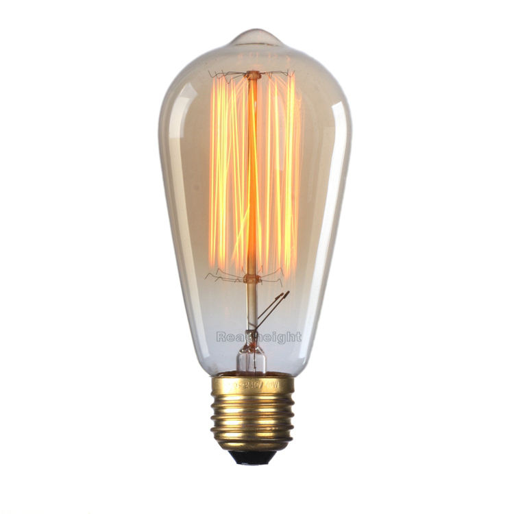 ST64 40W Amber Warm Dimbare <span class=keywords><strong>Antieke</strong></span> Vintage Stijl Edison Gloeilamp
