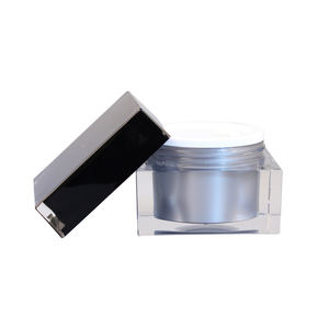Free sample cosmetic packaging face cream jar square cosmetic cream container pot