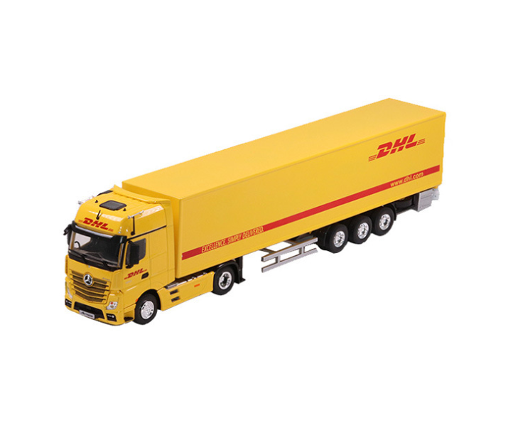 DHL truck scale model 1:50 I customized color and logo l VICMODEL