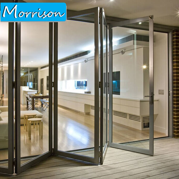 Цена по прейскуранту завода двойные глазурованные алюминиевые складные балконные двери