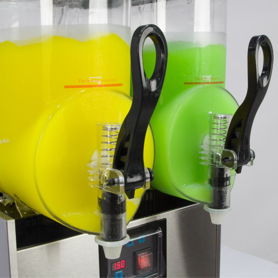 Slush Machine 2 Bowls Margarita Slush Machine Slushie Machine With LED Light Lids