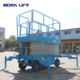 8m Morn small platform aerial work mobile scissor lift for sale