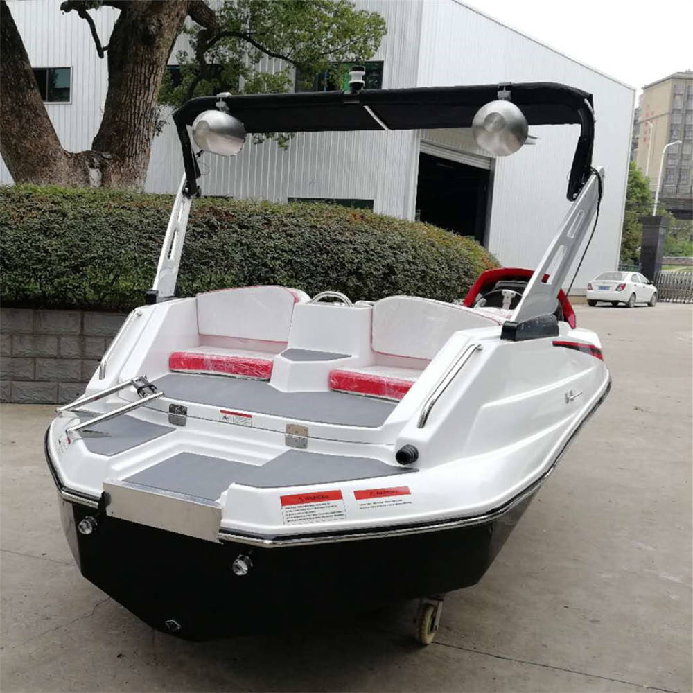 4.8m small fiberglass outboard boat yacht in customized color and logo