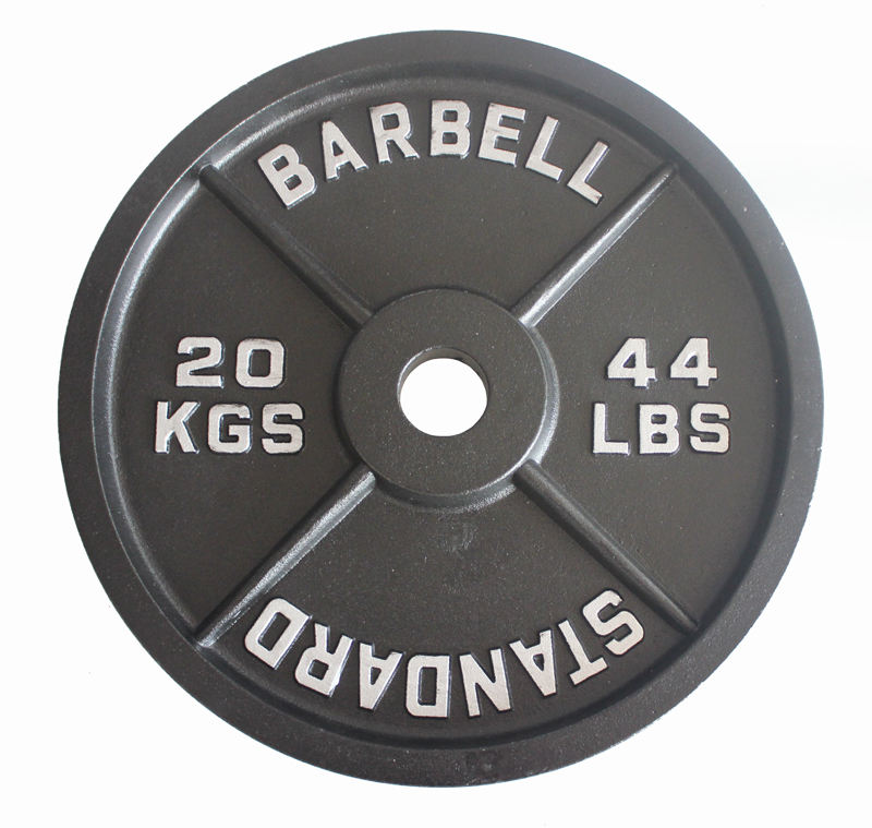 Cast iron weight lifting plates metal iron olympic lbs cast iron plates