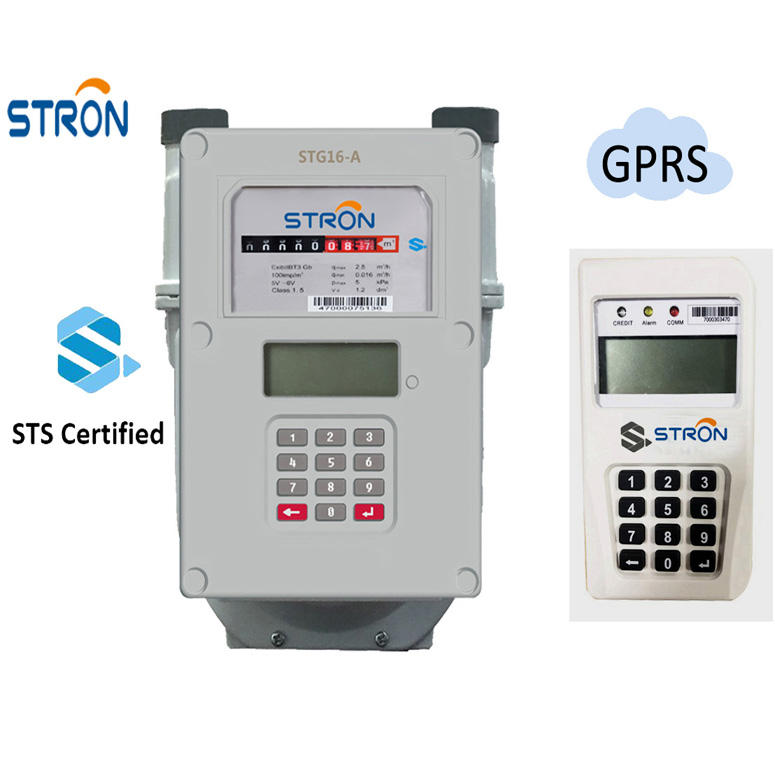 STS Compliant GPRS Communication Module Prepaid Smart Split Gas Meter with Customer Interface Unit