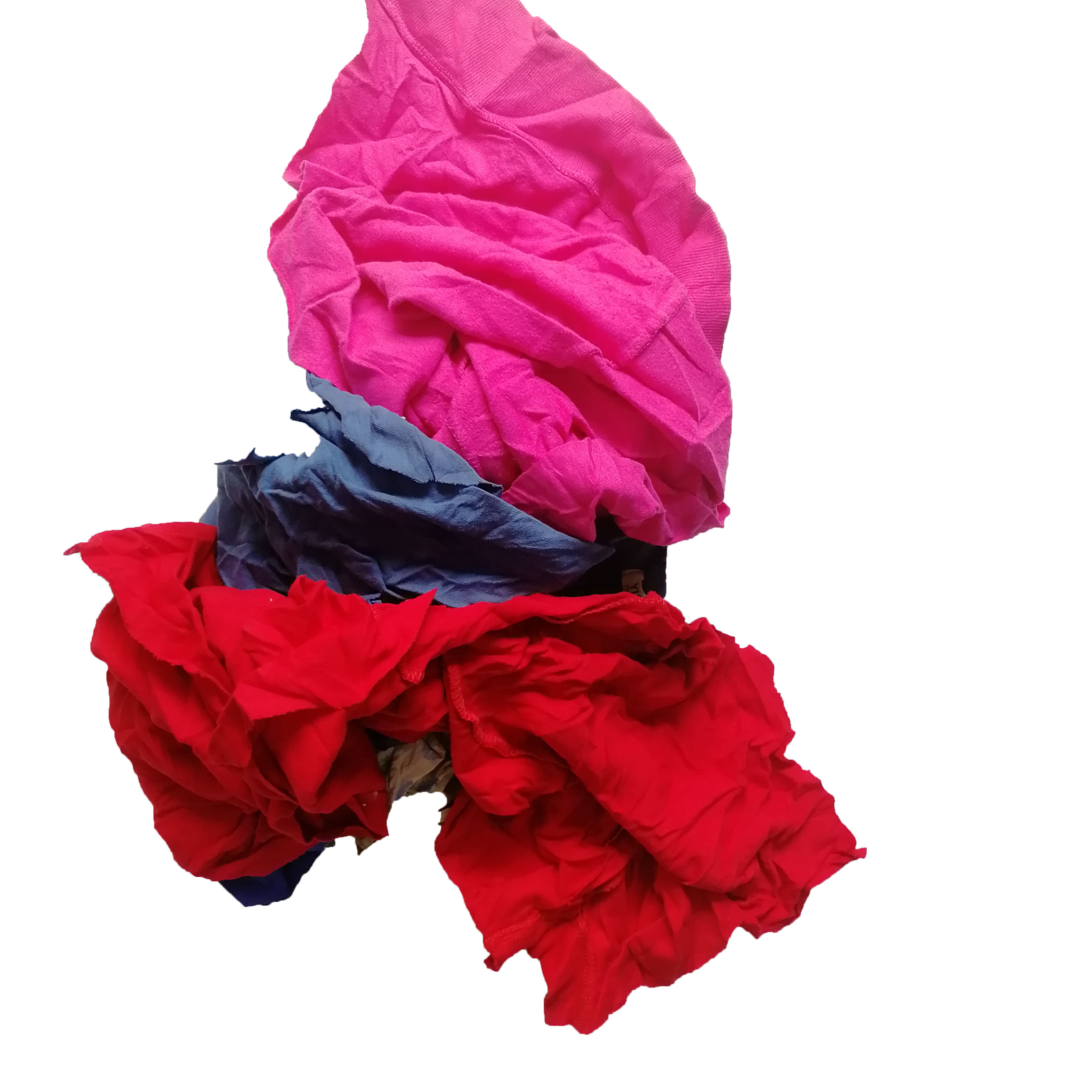 Second hand 10 kg bales textile color cotton used clothes t shirt rags