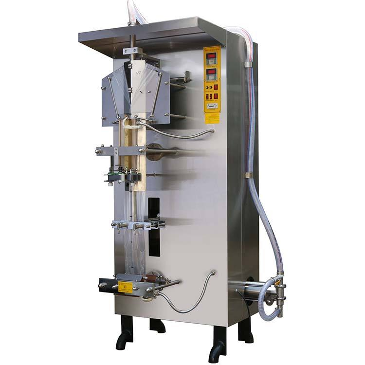 mechanical driven durable long uptime vertical liquid filling packing machine small water thin fluid