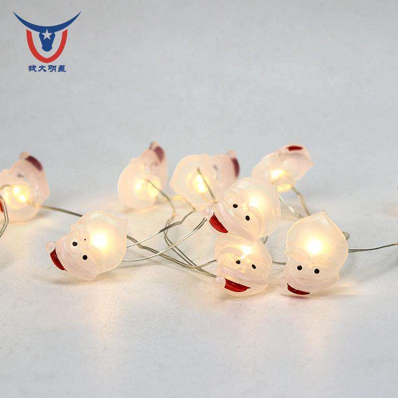 Xmas Tree 3AA Battery Operated 2M 20LED Copper Wire Warm White LED String Christmas Lights Indoor Decoration