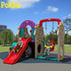 Plastic Amusement Playground/School Playground Play Toys Kindergarten Out Door Plastic Slide For Kids