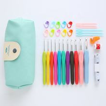 2019 hot selling 32 pcs crochet hook set for  handicraft