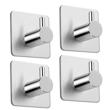 Hot Sale Self Adhesive Hooks Sticky Stainless Steel Towel Hooks Wall Hooks Heavy Duty for Kitchen Bathrooms