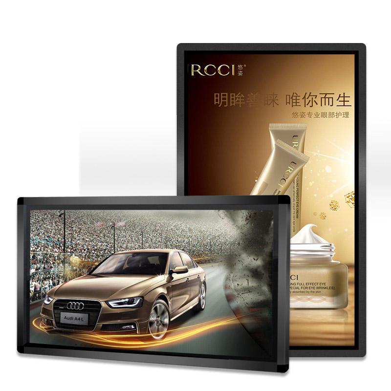 PC windows 43 pollici Indoor Montaggio A Parete Pubblicità Display A Cristalli Liquidi con touch
