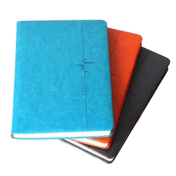 Hardcover en soft cover A5 perfecte binding pu lederen notitieboek met lint