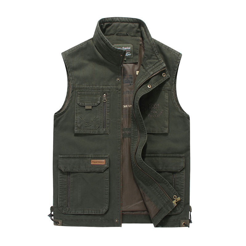 Wholesale Men's Multi Pockets Fishing Hunting Vests Outdoor Quick-Dry Jackets Waistcoats