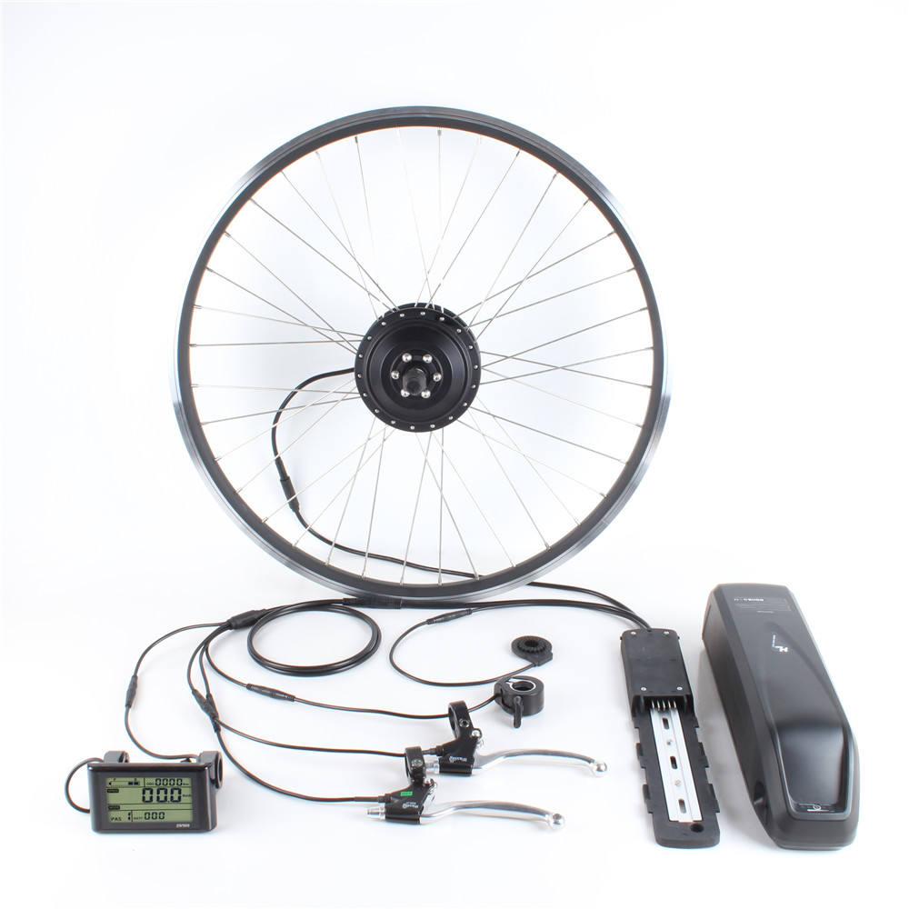 Lightweight Geared wheel motor 36v 350w electric cycle electric bike conversion kit