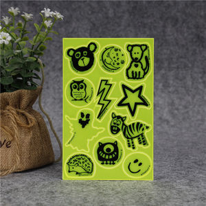 Glow In The Dark Ronde Sheet Auto Papier Reflecterende Sticker