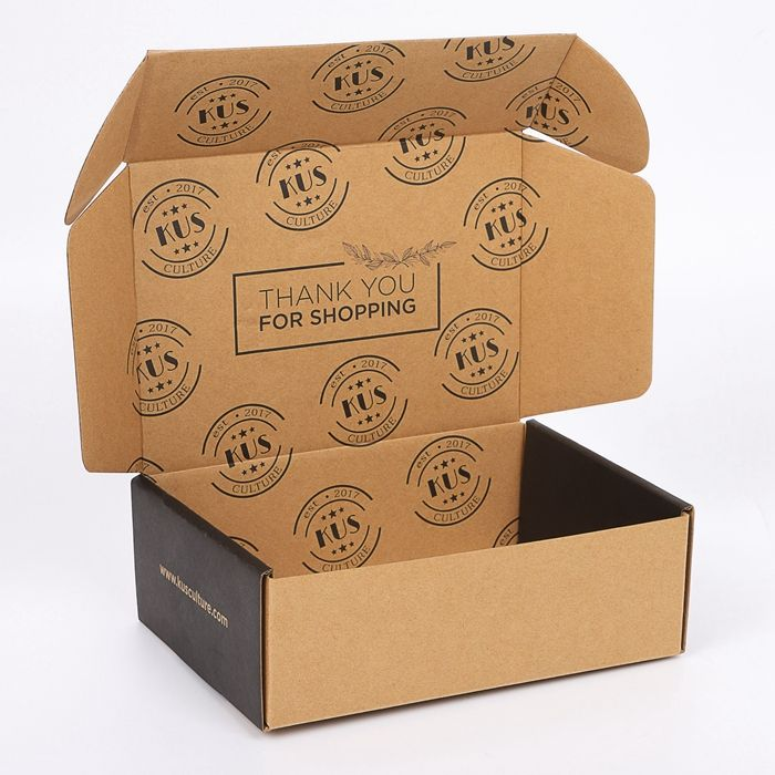 Customized Foldable Recycled Craft Paper Box Brown Corrugated Cardboard Boxes for Shipping