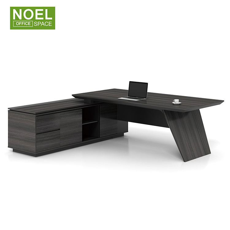 Noel Large size MDF luxury boss chair stylish wooden office executive desk executive desk