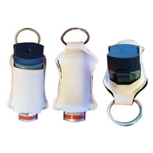 Blank White For Sublimation Health Care Inhaler Holder Keychain Neoprene Asthma Pump Holder With Key Rings