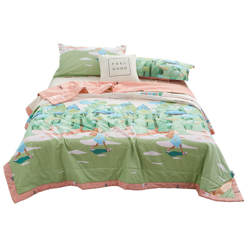 100% Cotton blanket high quality comforter summer Quilt
