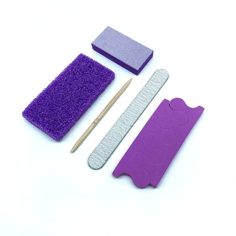 Fast delivery nail beauty disposable nail kit pedicure pumice kit for salon