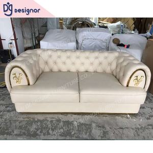DG Luxury Italian design leather sofa sets modern home furniture l shaped fabric sectional sofa