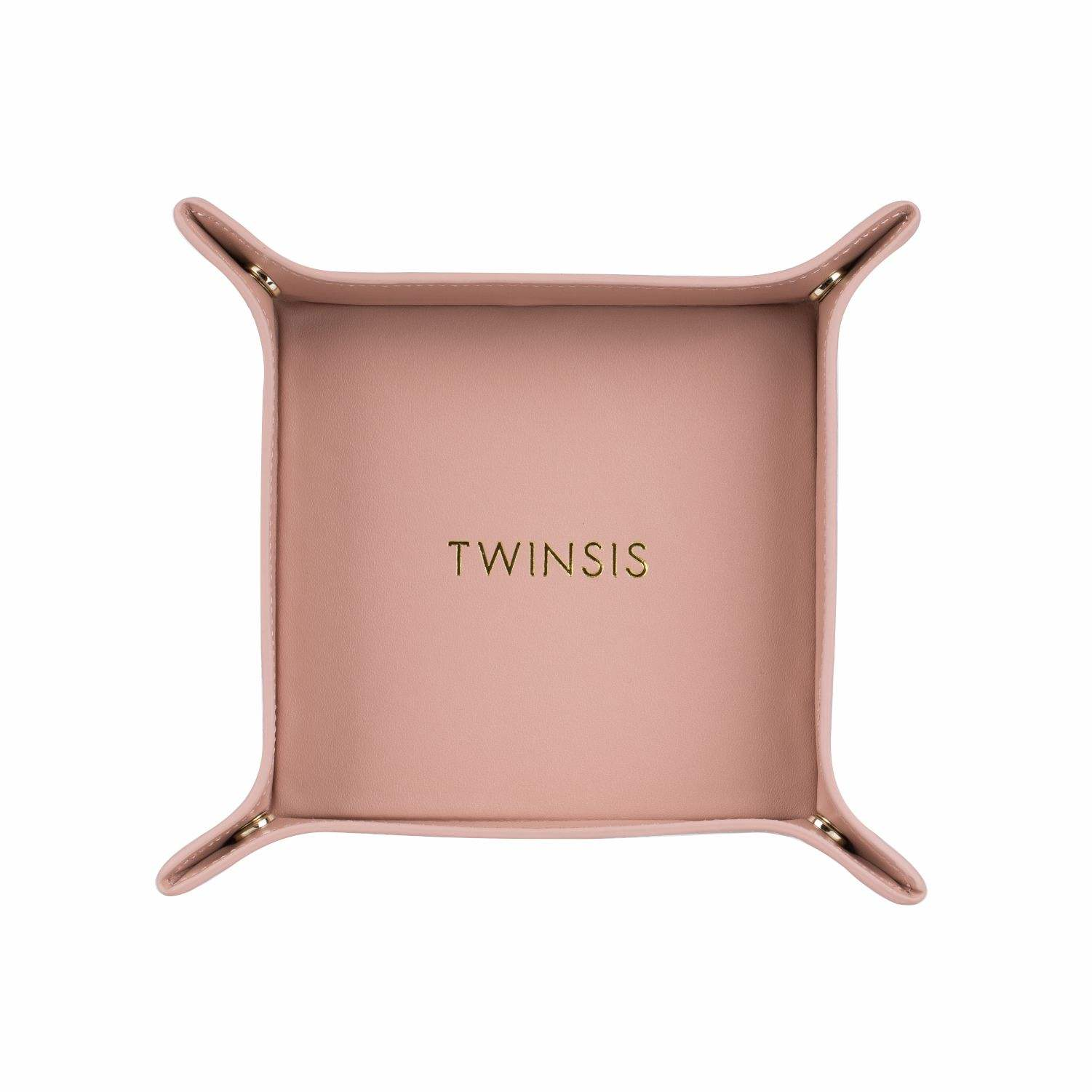 Twinsis Design Wholesale Customized Leather Valet Tray Office House Square Folding Home Accessories Decorative Serving Trays