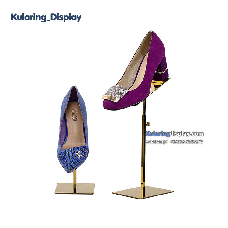 Adjustable Metal Shoe Riser High Heels Display Stand for Boutique,Shoes Display Rack Manufacturer
