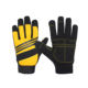 PRI Black Synthetic Leather Construction Industrial DIY Work Gloves for General Purpose