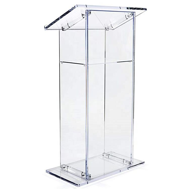 Church Podium Clear Acrylic Lectern School Pulpit