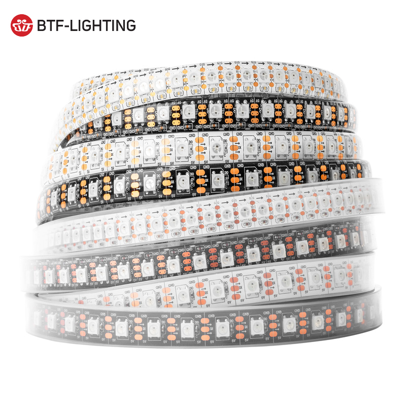 Top quality DC5V led pixel 5050 strip WS2812B led strip light 30 48 60 96 144 leds per meter