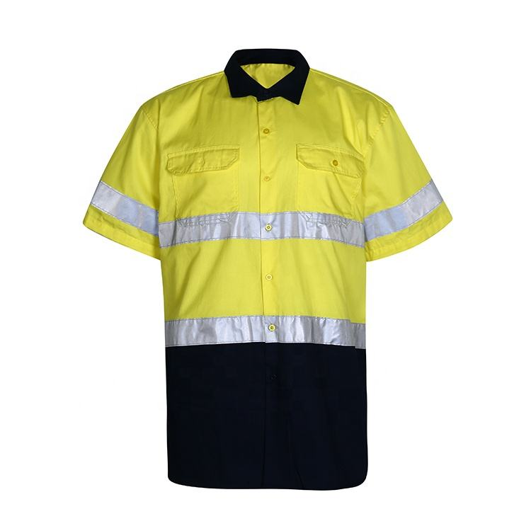 Hot Sale Wholesale Multifunction Yellow Reflective Stripe Customized Safety Overall Workwear Suit