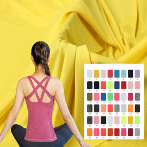 100% Polyester Knitted Fabric Yoga Wear Quickly Dry Clothes Knitted Fabric