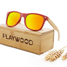 2020 Popular PC Frame Wooden Sunglasses Handmade Polarized Bamboo Sun Glasses Unisex