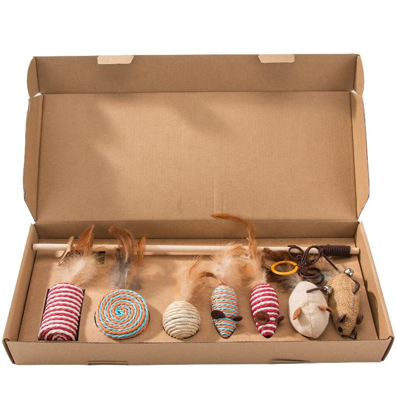 DOKA Hot selling Interactive Cat Toy Set 7 pcs Mouse Toy Gift Box For Best Cat Toy Ever