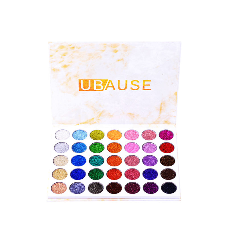 No animal fat easy ware party makeup metallic shimmer private label glitter pressed powder palette eyeshadow OEM