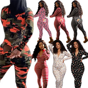 Camoufalge Color Women Slim Body Print Skinny 2021 Women One piece Jumpsuit