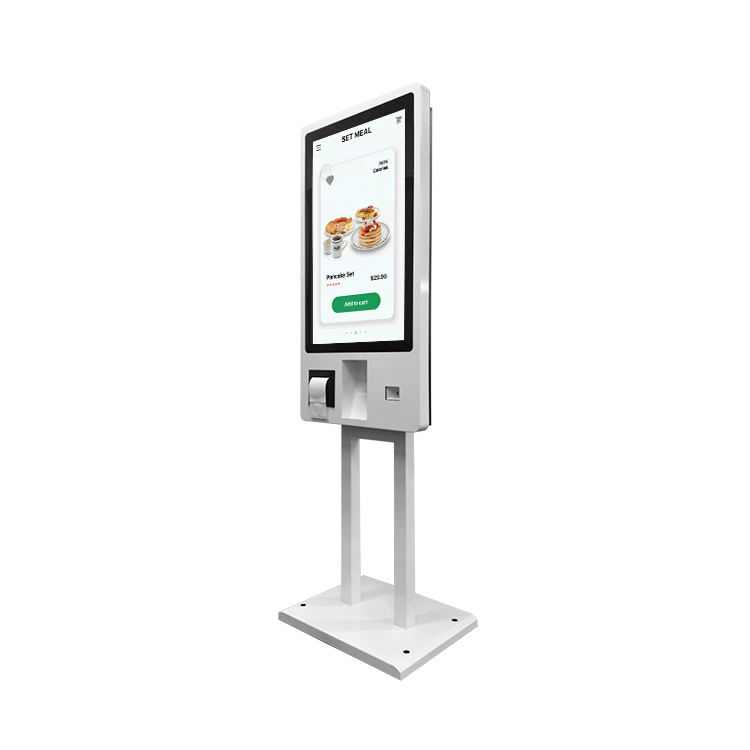 24 27 inch digital touch screen self-service terminal with barcode scanner POS system payment kiosk