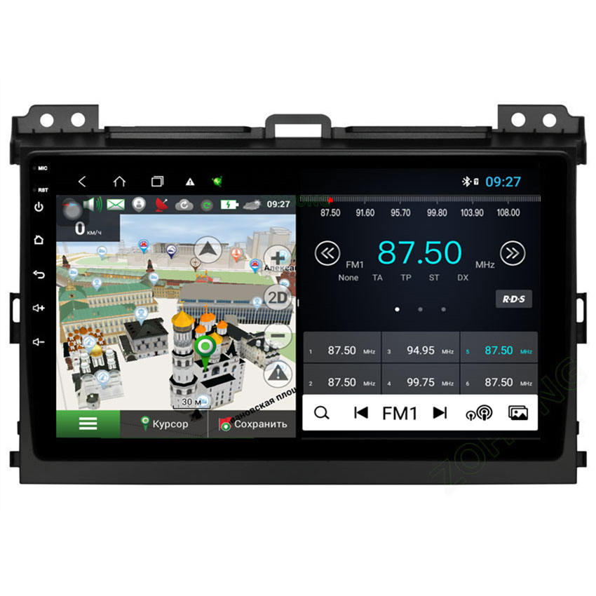 ZOHONG DSP 48EQ 4G für Toyota Land Cruiser Prado 120 Android10 Auto <span class=keywords><strong>DVD</strong></span> Multimedia Player Autoradio GPS Navigation Radio Audio