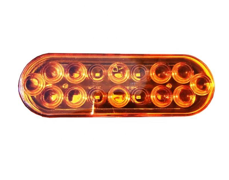 6'' oval led tail turn signal light lamp tractor
