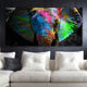 Hot Sale Colorful Elephant Painting Animal Poster Oil Painting On Canvas Wall Art Room Decoration Picture