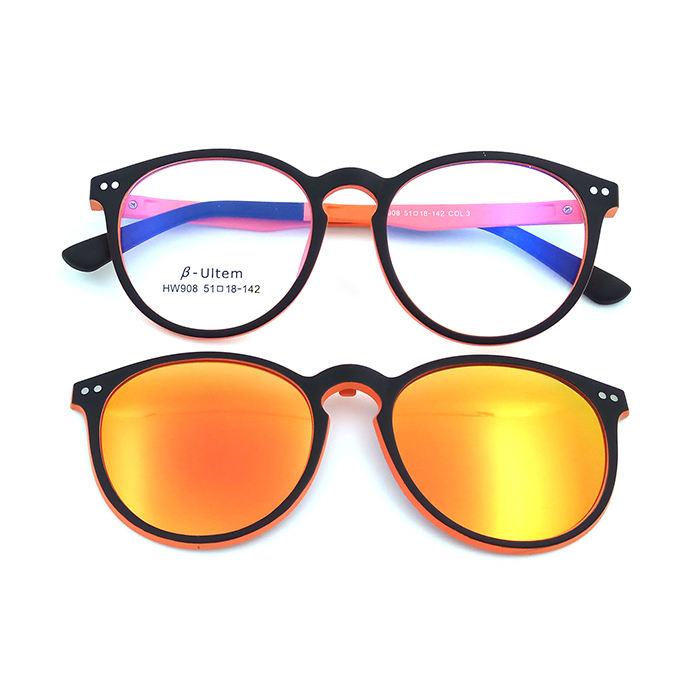 Светящиеся очки Ultem с магнитной поляризационной оправой